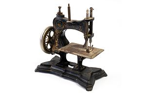 Antique Miniature Hand Operated Sewing Machine