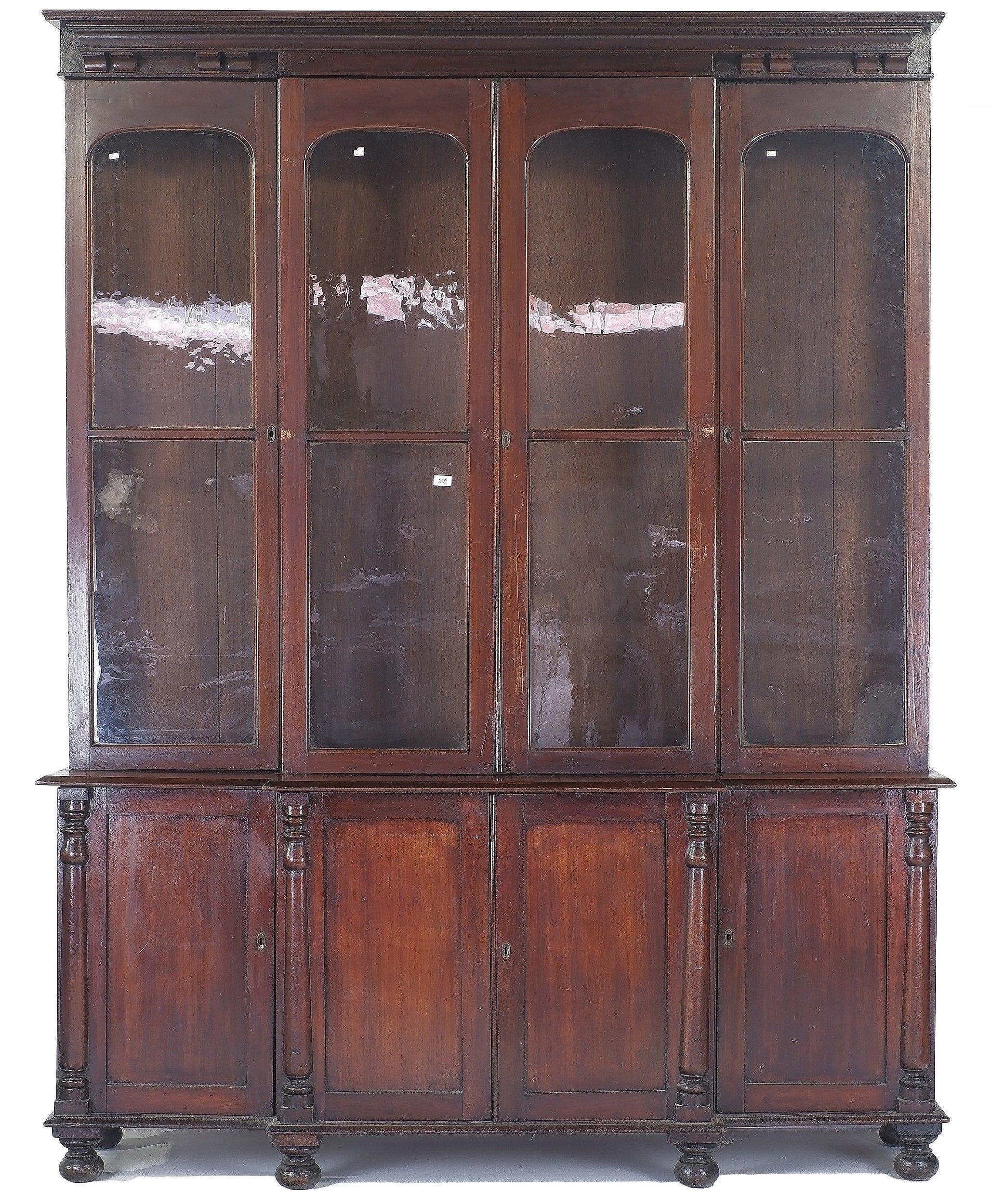 'Rare Australian Cedar Breakfront Library Bookcase Circa 1840-1850'