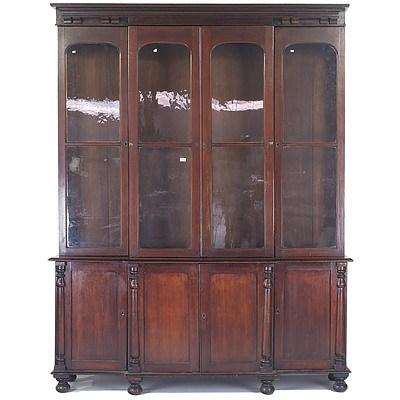 Rare Australian Cedar Breakfront Library Bookcase Circa 1840-1850