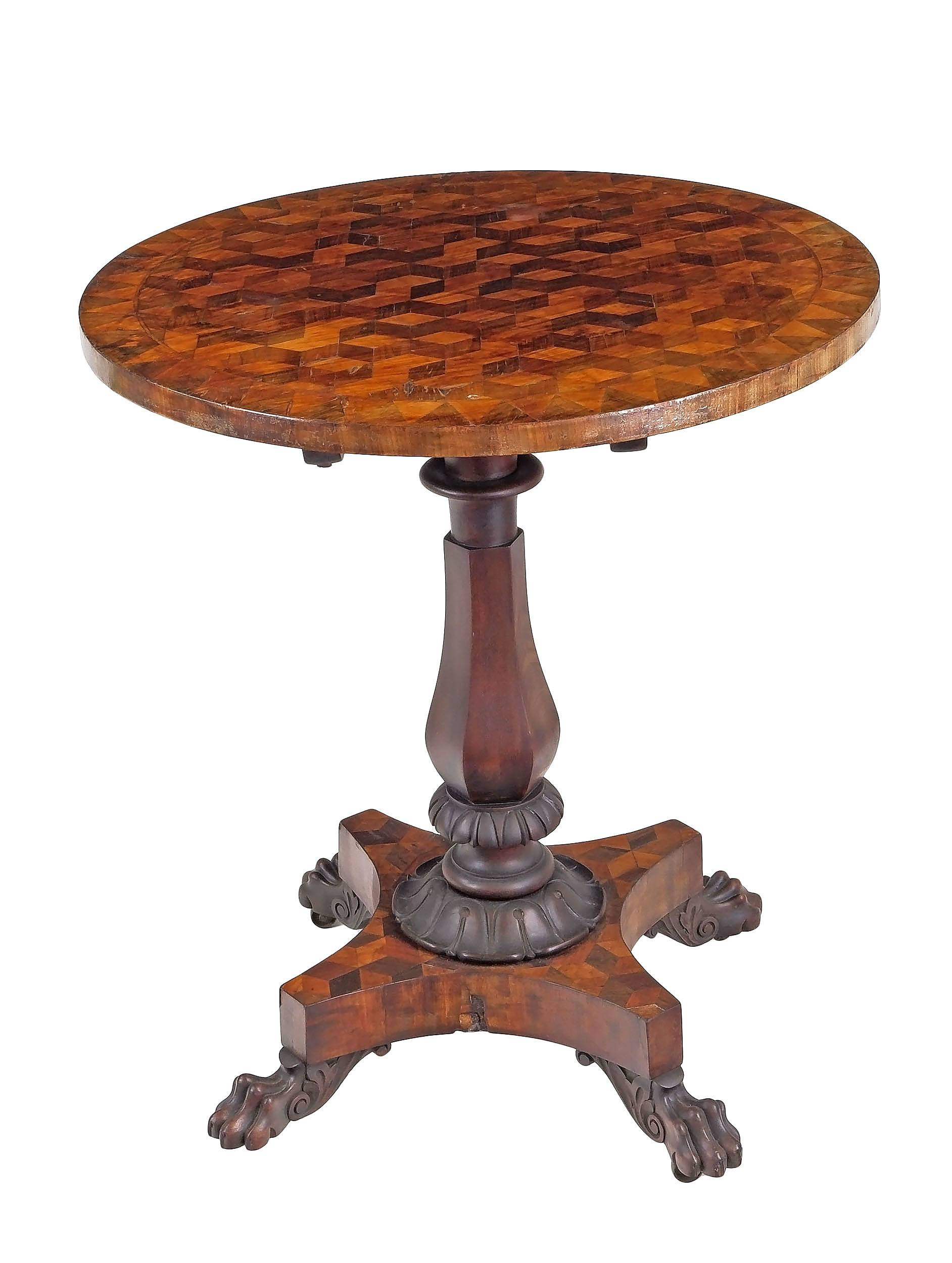 'George IV Wine Table of Australian Interest the Specimen Timbers Marquetry Top Including Botany Bay Beefwood (Casuarina) Circa 1825-30'
