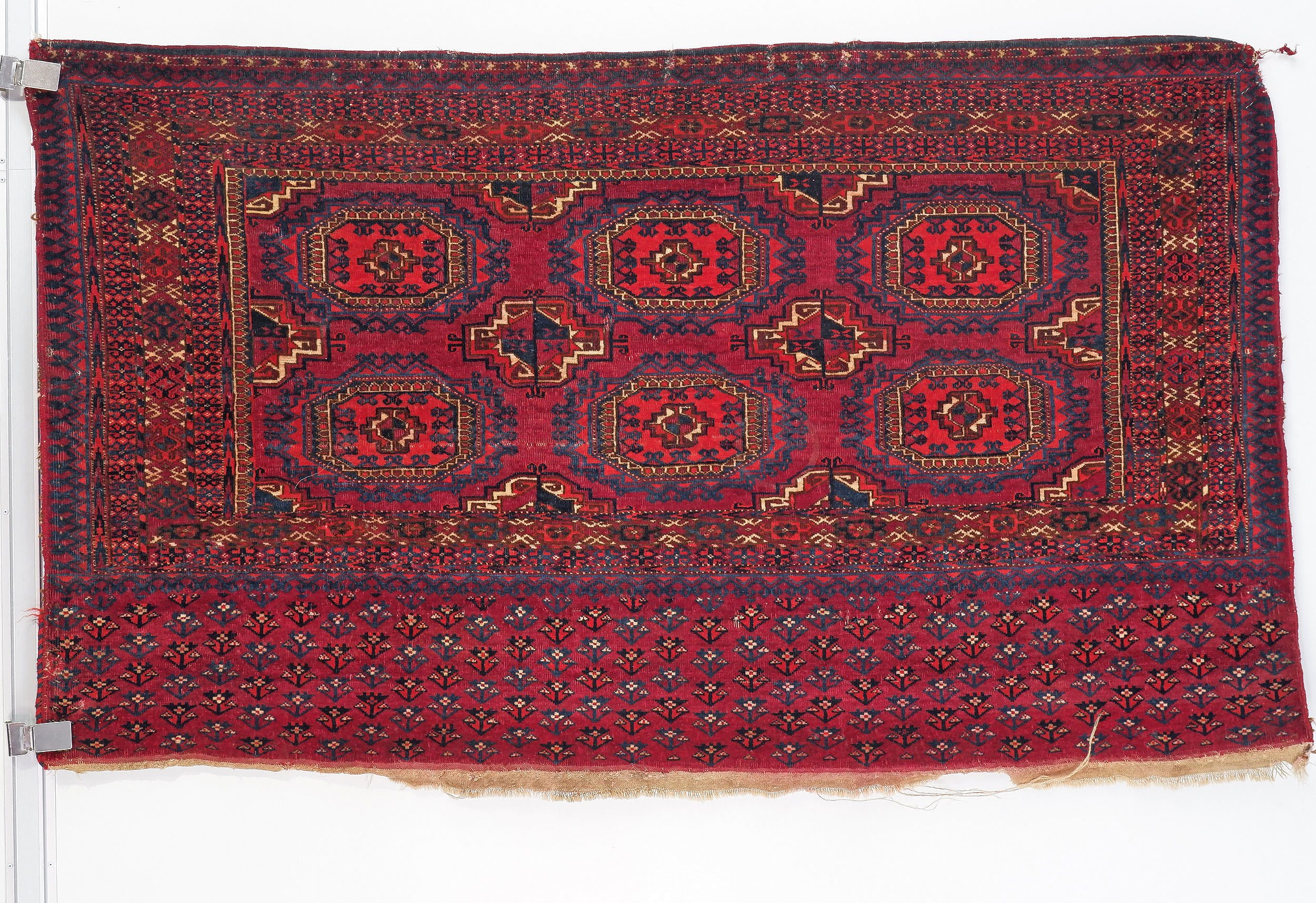 'Antique Turkmen Hand Knotted Wool Pile Hanging Chuval'