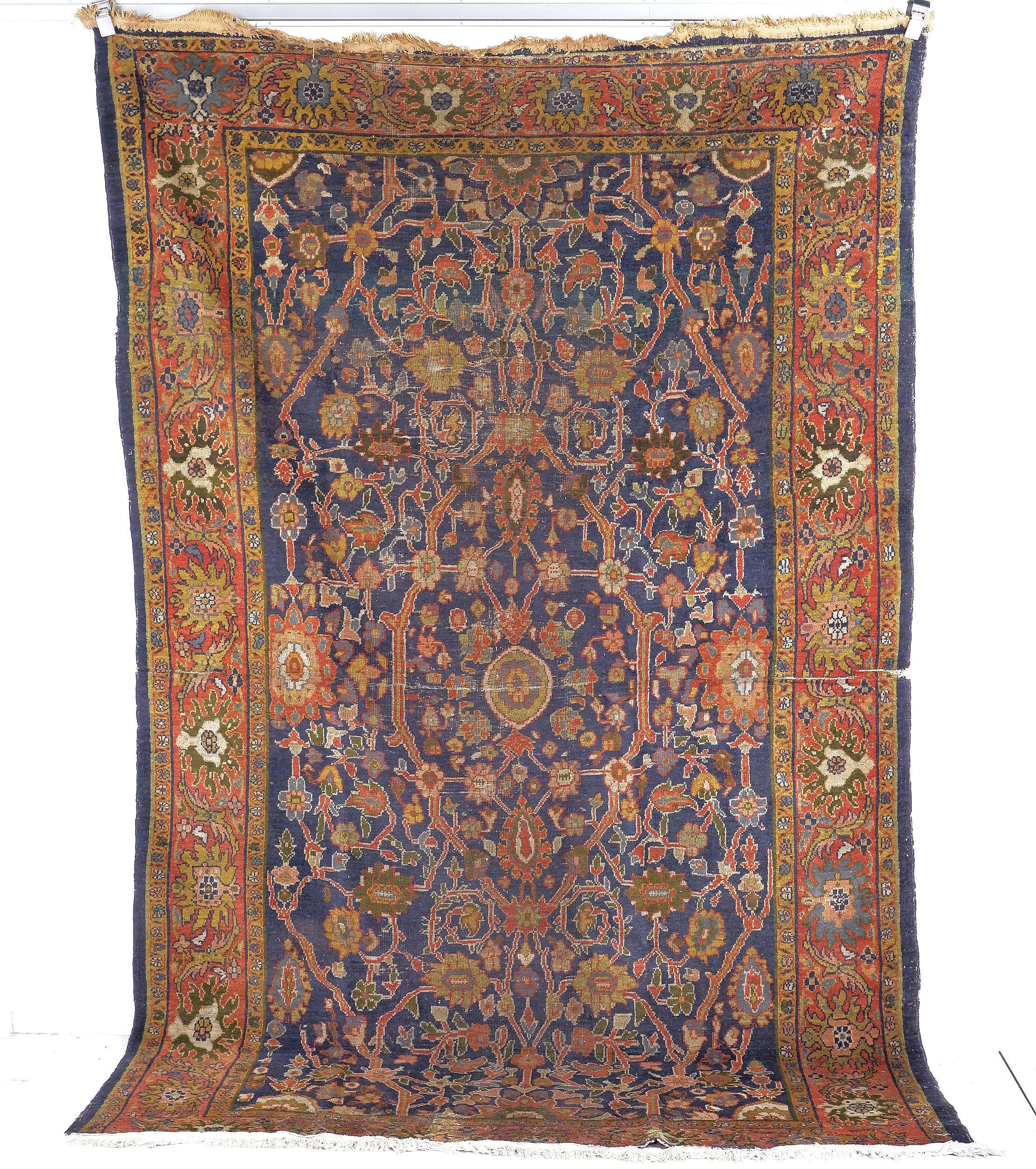 'Rare Antique Persian Sultanabad Hand Knotted Wool Pile Carpet Circa 1890'