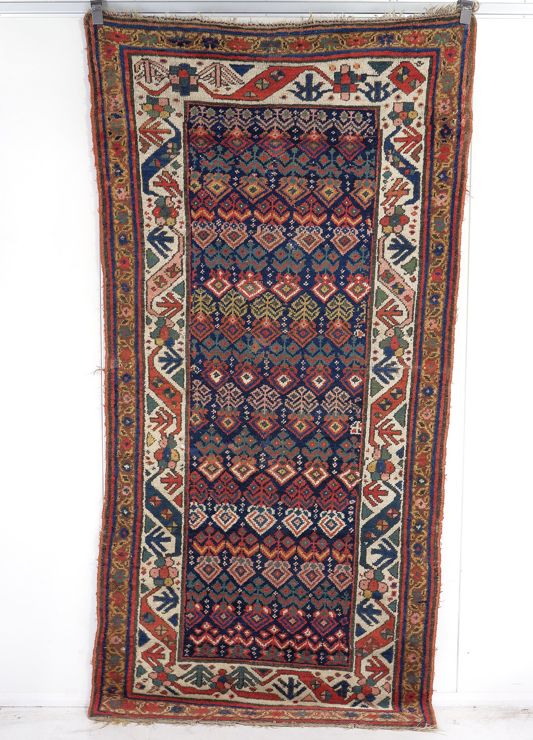 'Superb Antique Caucasian Kuba Hand Knotted Wool Pile Palmette Rug, Late 19th/Early 20th Century'