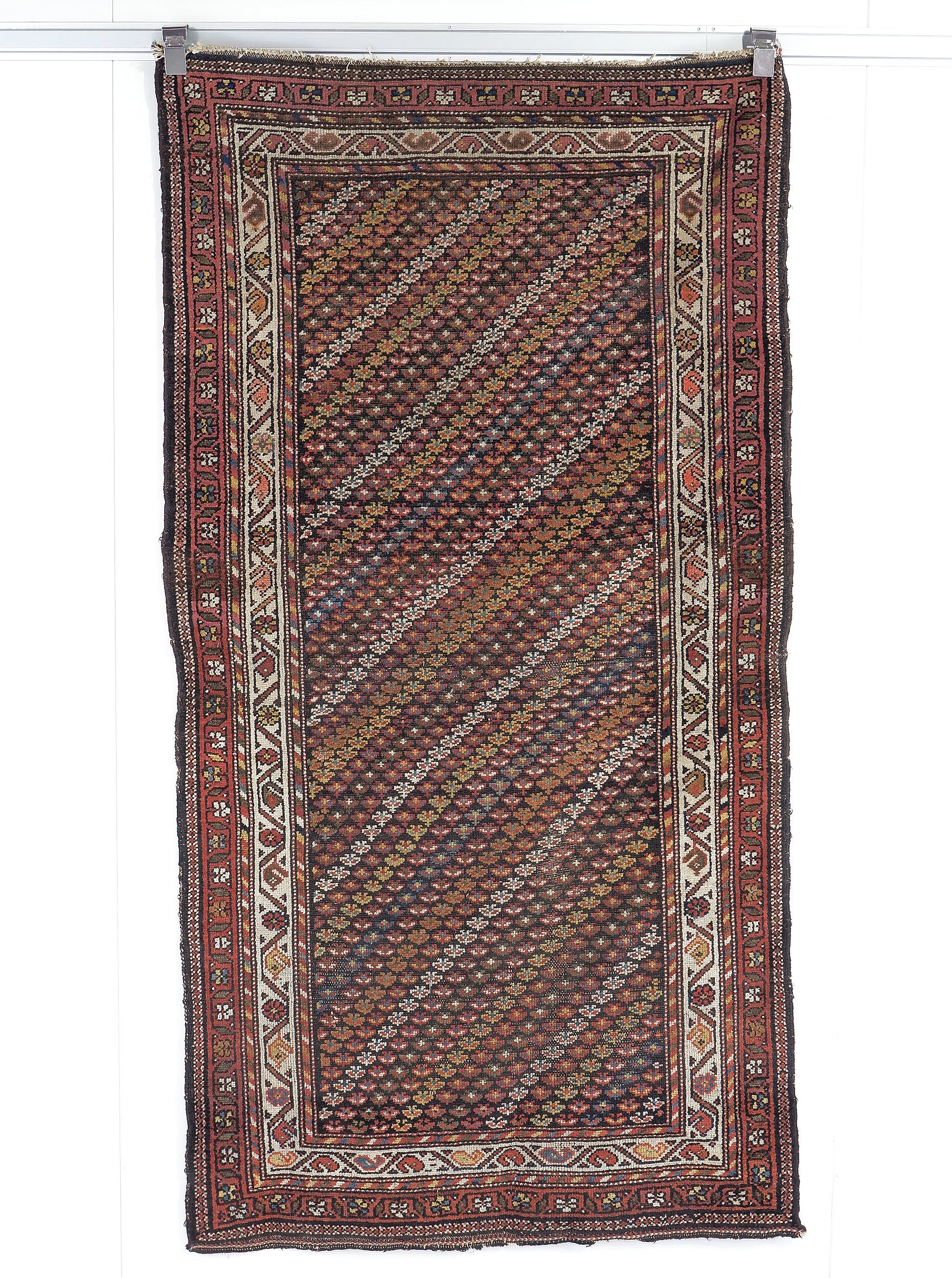 'Antique Caucasian Kuba Chichi Hand Knotted Wool Pile Rug with Diagonal Rows of Palmettes Circa 1900'