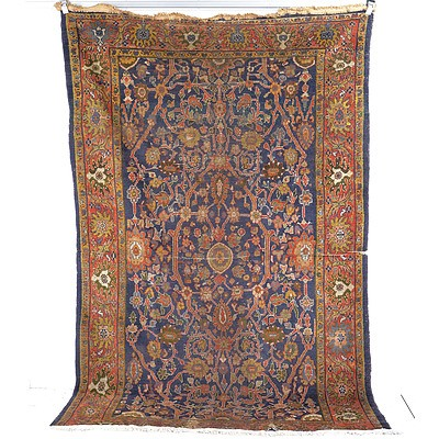 Rare Antique Persian Sultanabad Hand Knotted Wool Pile Carpet Circa 1890