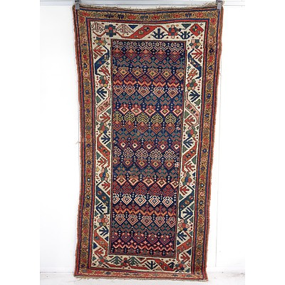 Superb Antique Caucasian Kuba Hand Knotted Wool Pile Palmette Rug, Late 19th/Early 20th Century