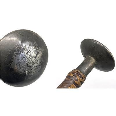 Silver Topped Riding Crop - Provenance Henry Parkes (by Repute) Engraved SEMPER PRAESARE
