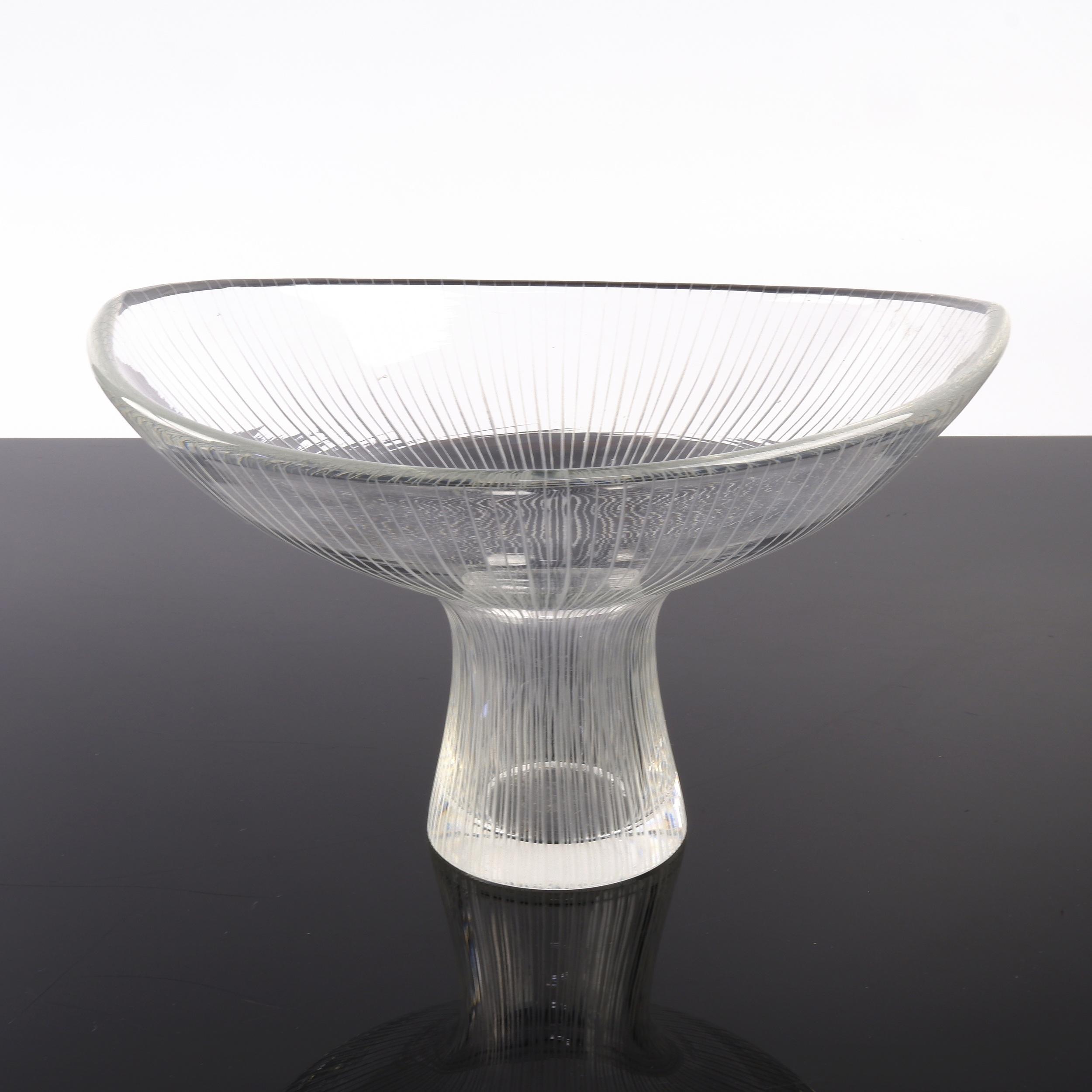 'Iittala Kantarelli Pedestal Vase Designed by Tapio Wirkkala Circa 1950s, Model 3532'
