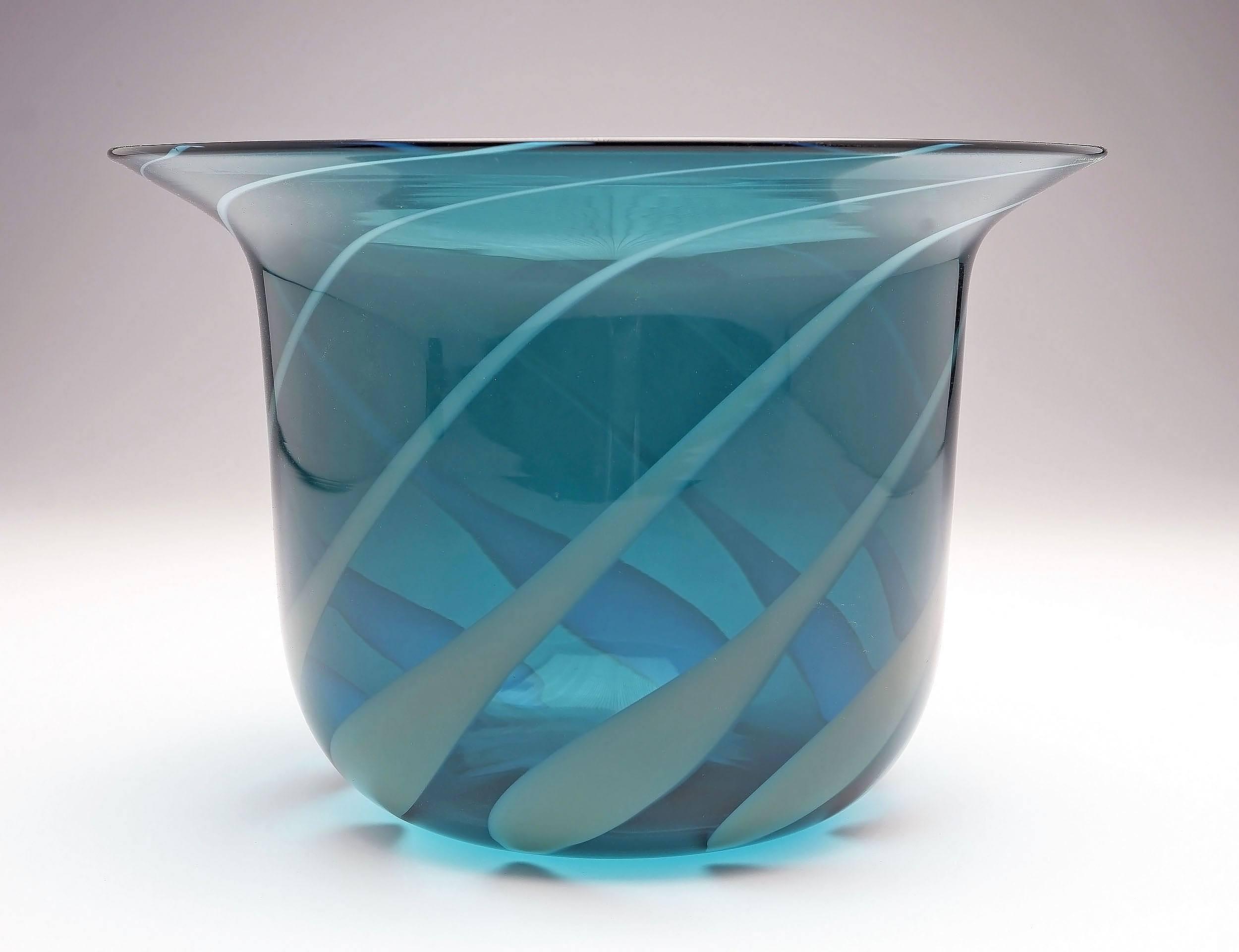 'Rare Italian Venini Glass Flared Bowl Designed by Tapio Wirkkala'
