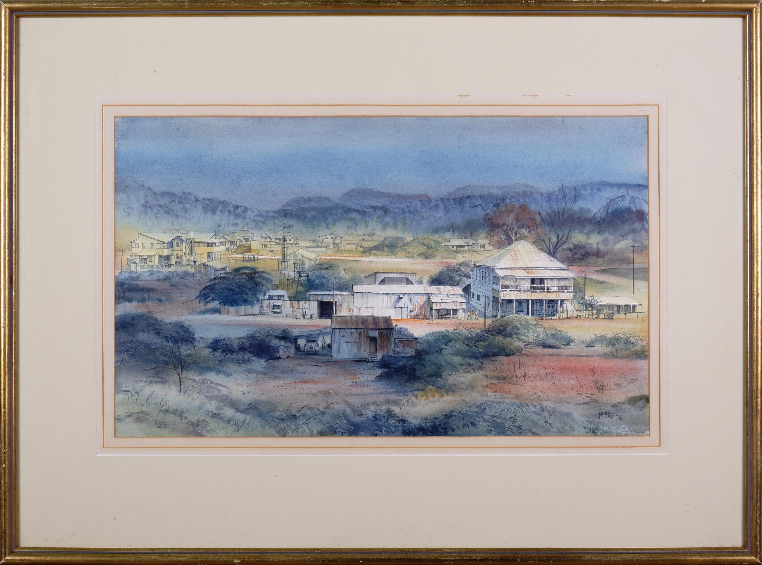 'Kenneth Jack (1924-2006), Chillagoe, North Queensland 1981, Watercolour'