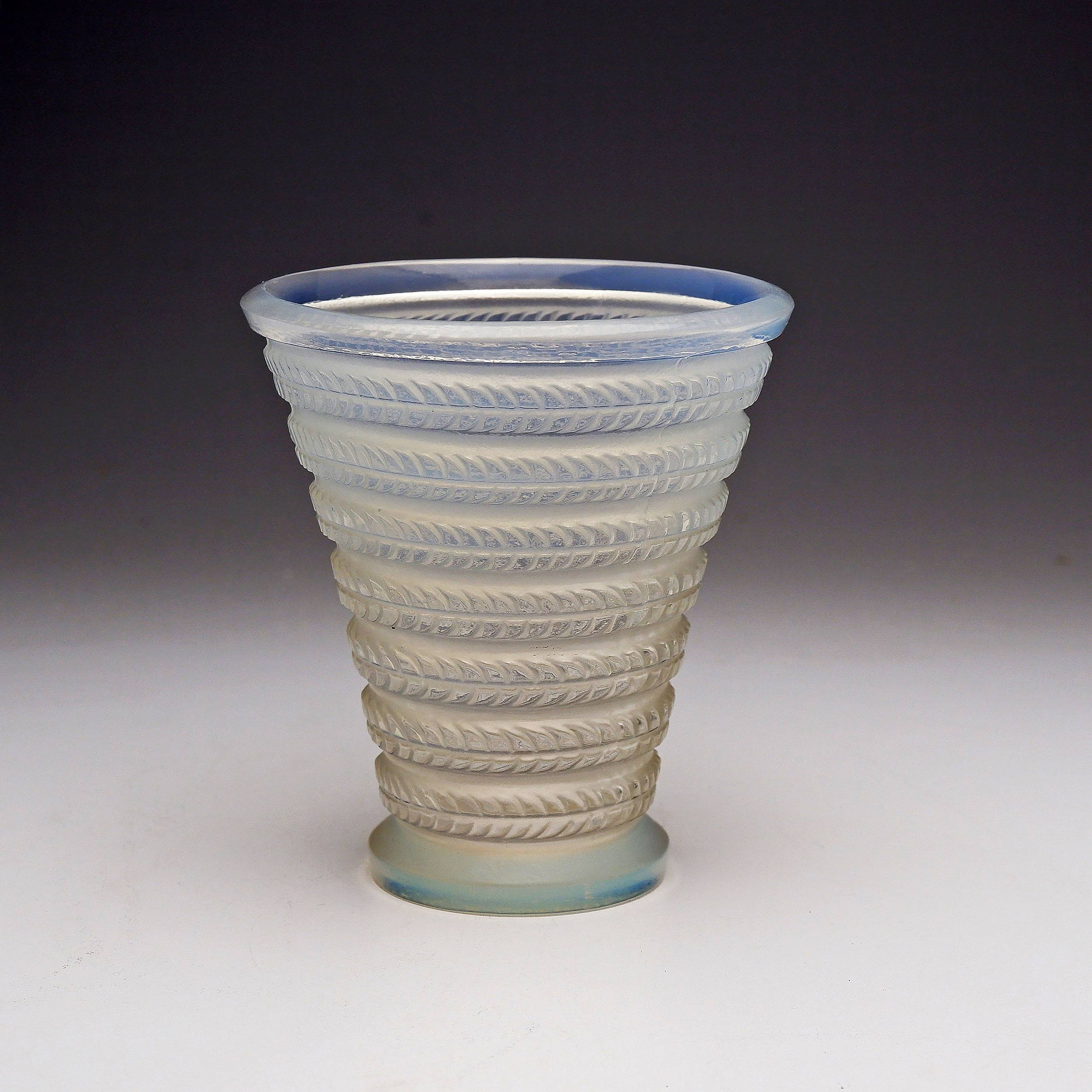 'Rene Lalique Cytise Vase in Opalescent Glass, Model no. 1095, Designed c.1926'