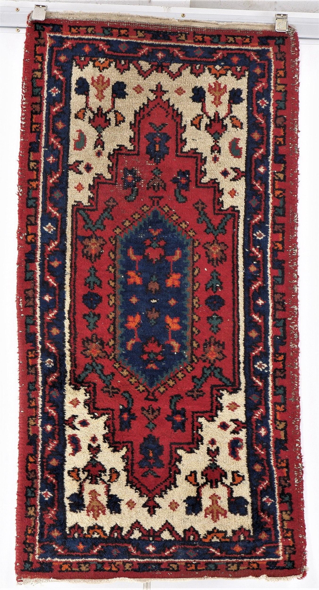'Vintage Persian Hamadan Hand Knotted Wool Rug '