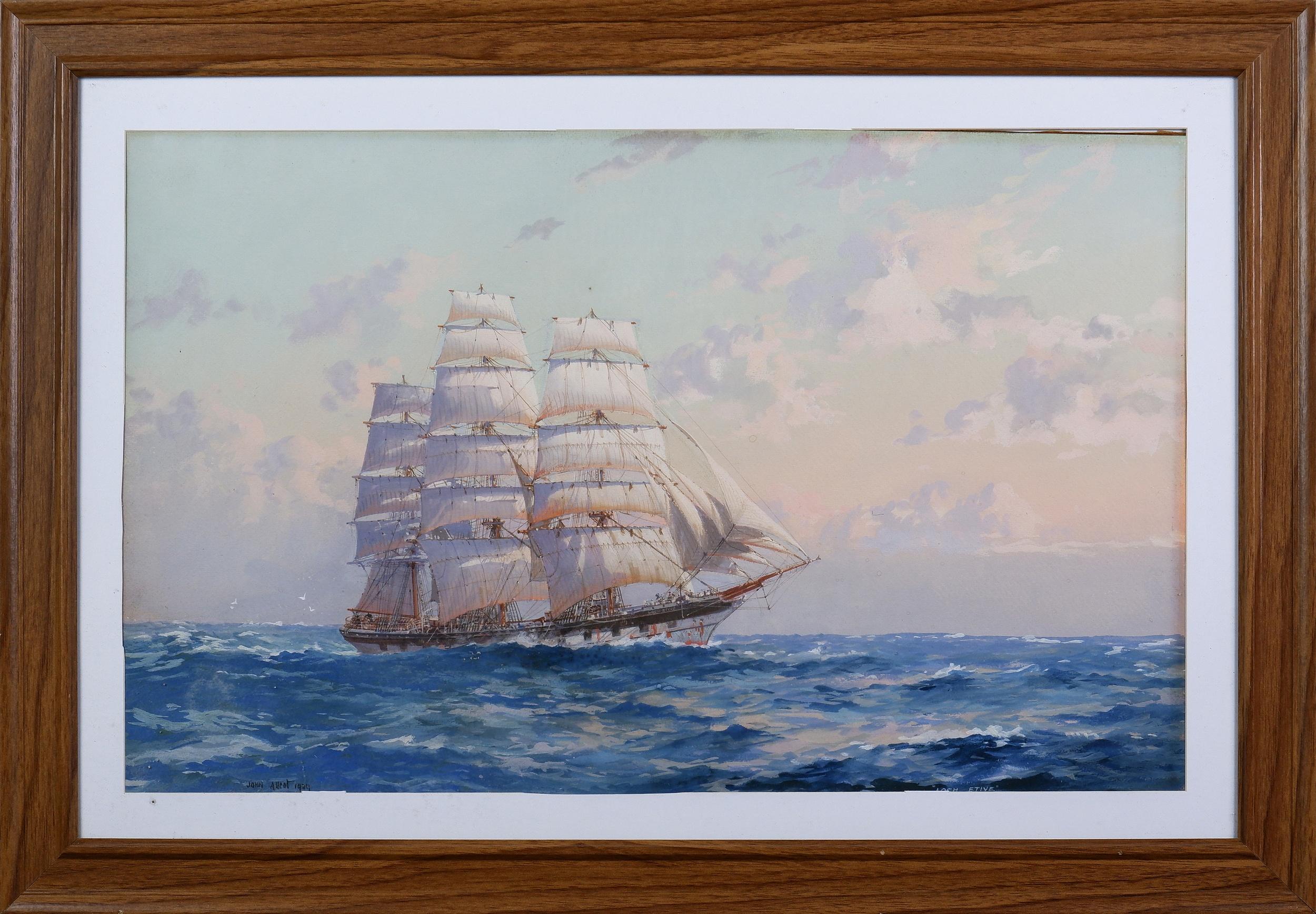 'John Allcot (1888-1973), Loch Etive 1989, Gouache on Paper, 33.5 x 54 cm '