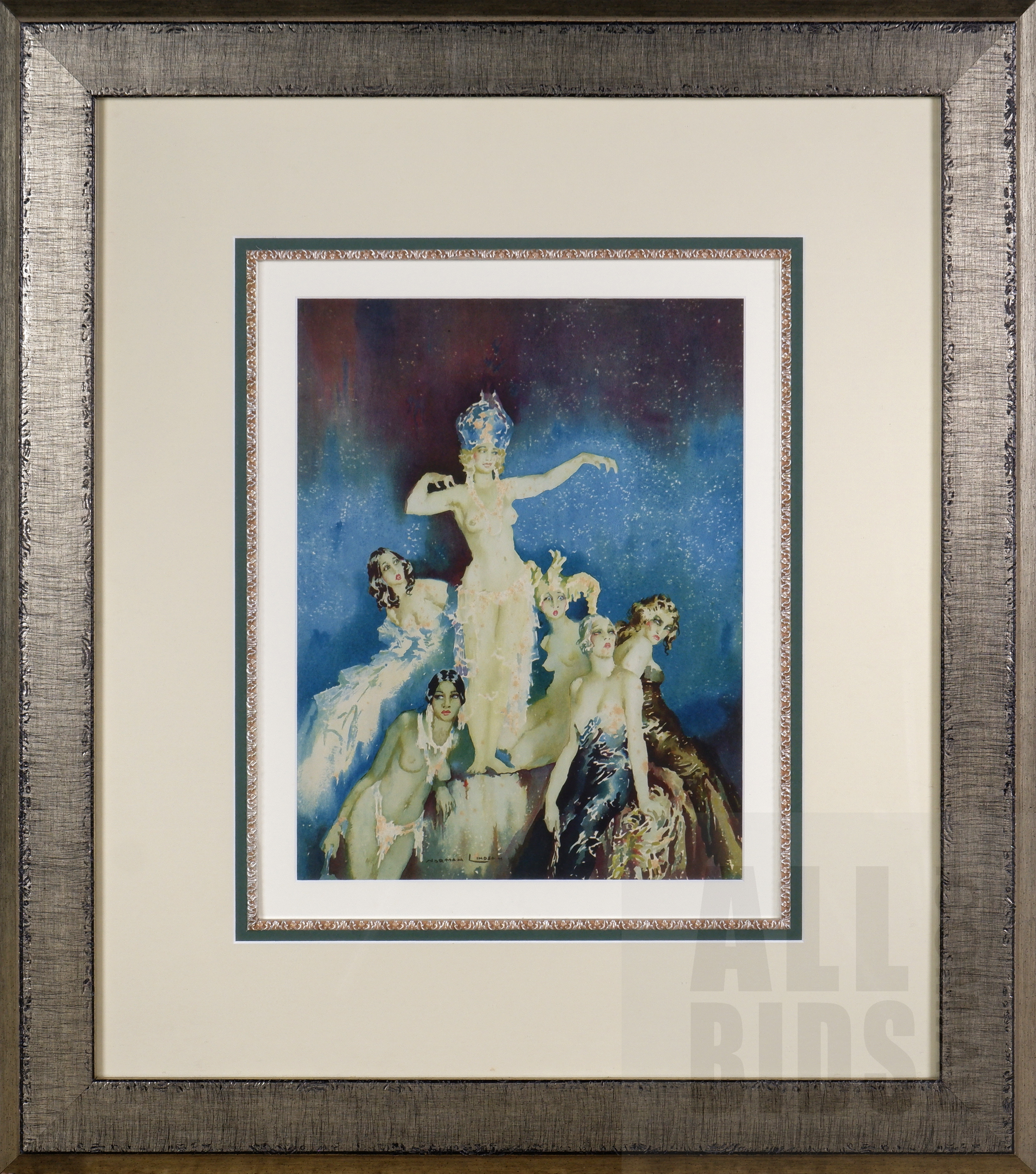 'Norman Lindsay (1879-1969), Benevolence 1934, Lithograph, 37 x 28.5 cm (image size)'