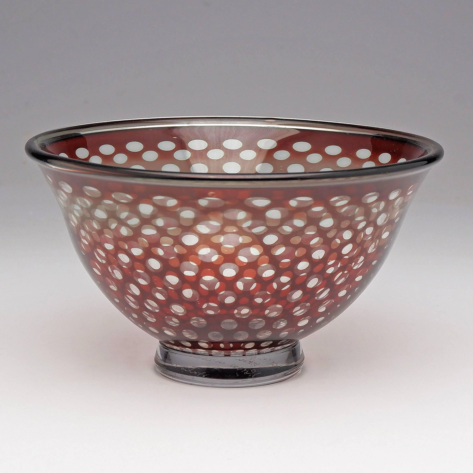 'Orrefors Graal Bowl Designed by Edward Hald'
