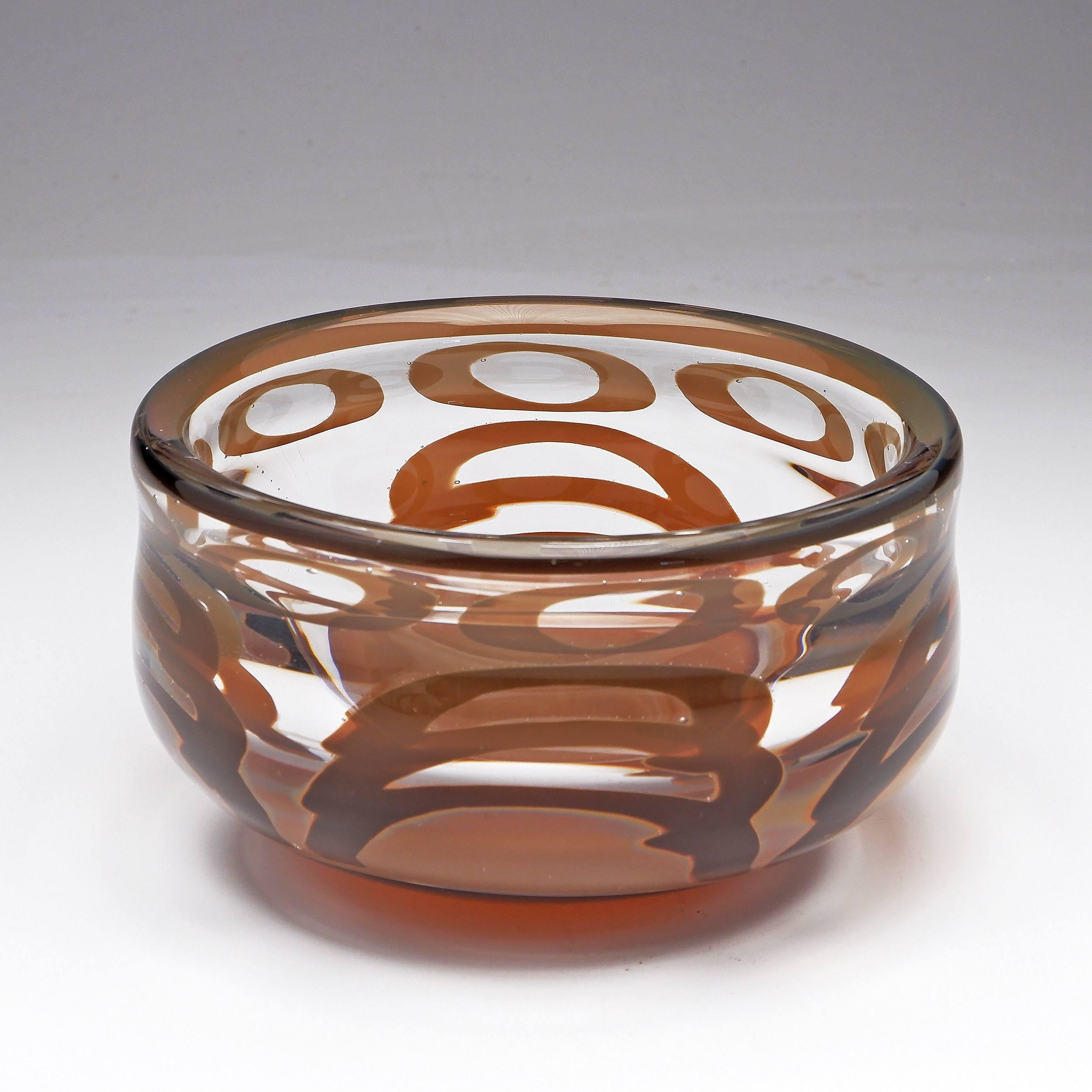 'Orrefors Graal Vase of Large Proportion Circa 1970s by Ingeborg Lundin'