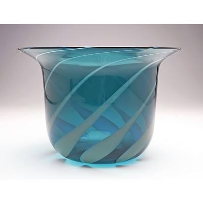 Rare Italian Venini Glass Flared Bowl Designed by Tapio Wirkkala
