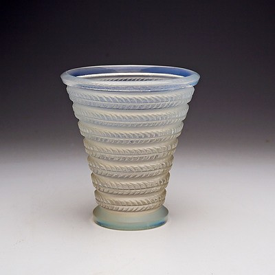 Rene Lalique 'Cytise' Vase in Opalescent Glass, Model no. 1095, Designed c.1926
