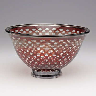 Orrefors 'Graal' Bowl Designed by Edward Hald