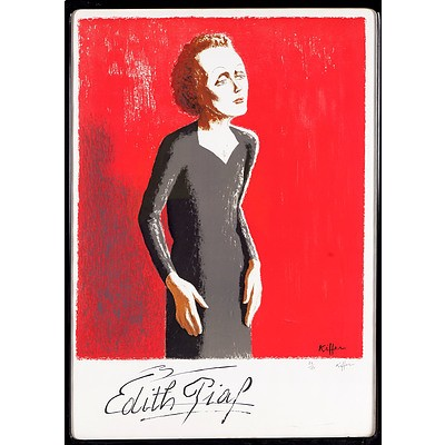 Charles Kiffer (French 1902-1992) Edith Piaf, Lithograph Edition 79/150
