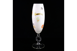 Vintage Murano Glass Pedestal Ring Vase