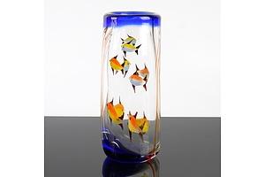 Vintage Murano Glass Fish Vase