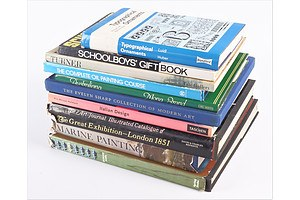 Quantity of Ten Books Including Marine painting by D Brook Hart, Guns by D Pope and More