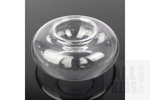 Signed Baccarat 2pce Crystal Caviar Dish, Diameter 20cm