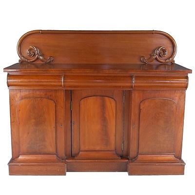 Australian Cedar Breakfront Sideboard Attributed to Andrew Lenehan Circa 1865