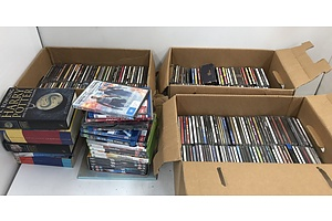 Large Collection Of CD's and Books