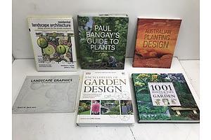 Landscape/Garden Design Books -Lot Of Six