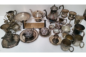Collection of Silver Plated Serving Ware