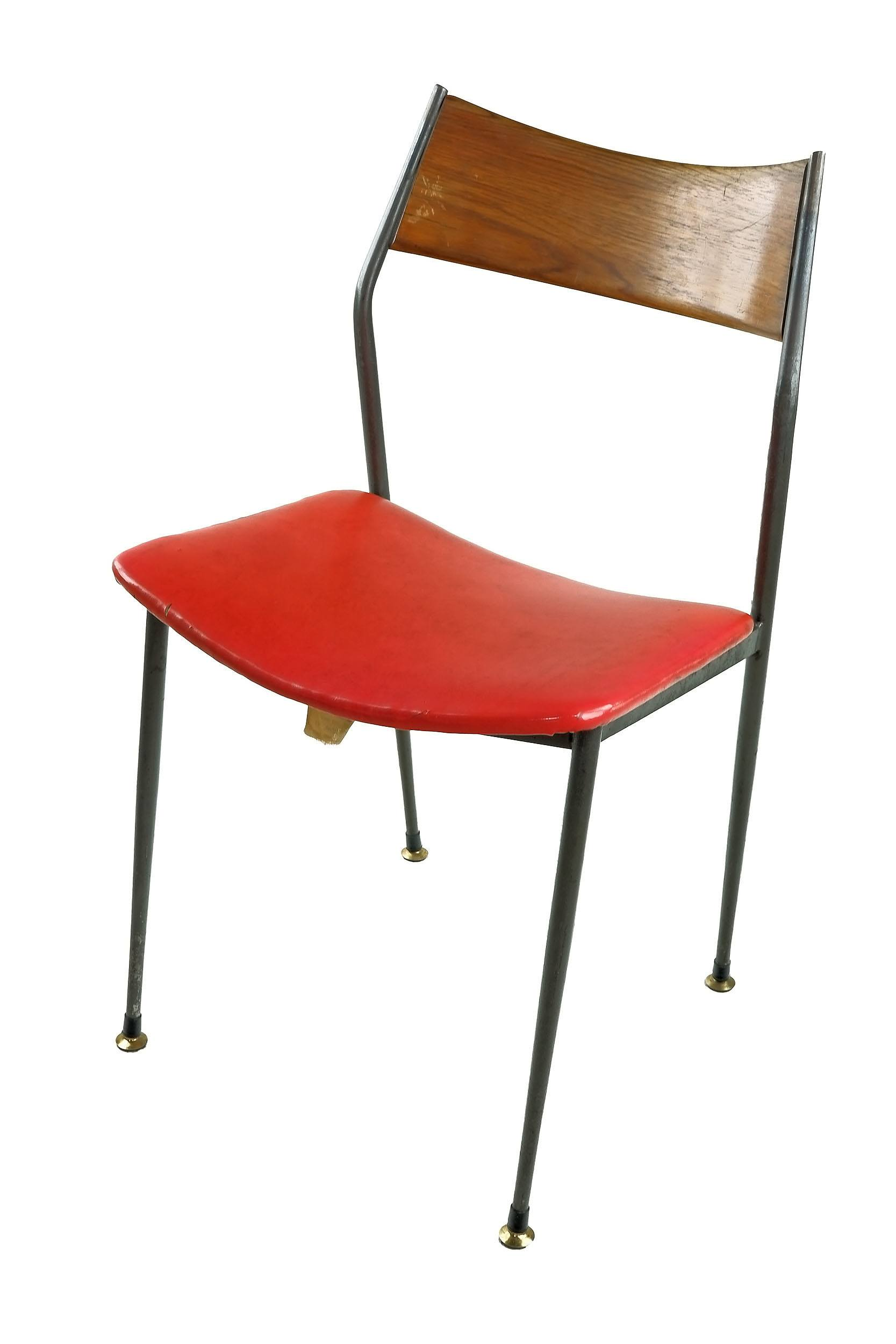 '1960s Steel and Tasmanian Blackwood Side Chair Labelled D Wallace & Co.'