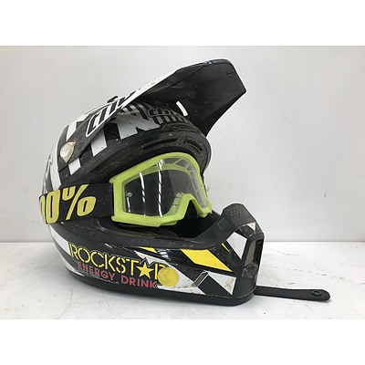 Thor Size S Dirtbike Helmet With Goggles