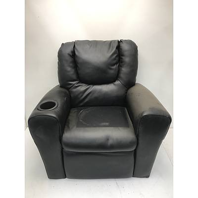 Kids Faux Leather Reclining Arm Chair