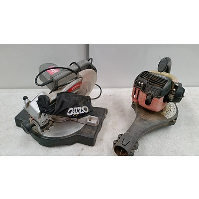 Electric Drop-saw And Petrol Blower