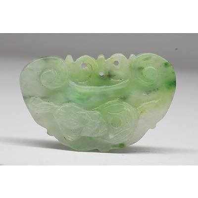 Chinese Jadeite Ruyi Shaped Pendant