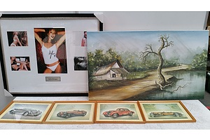 Assorted Prints And Paintings- Lot Of 6
