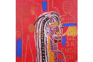 Vika Fifita, Untitled (Homage to Jean-Michel Basquiat), Oil on Canvas