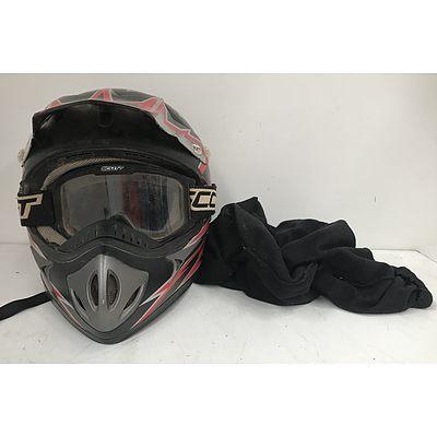 RXT Freedpeed 681 Dirtbike Helmet With Scott Goggles