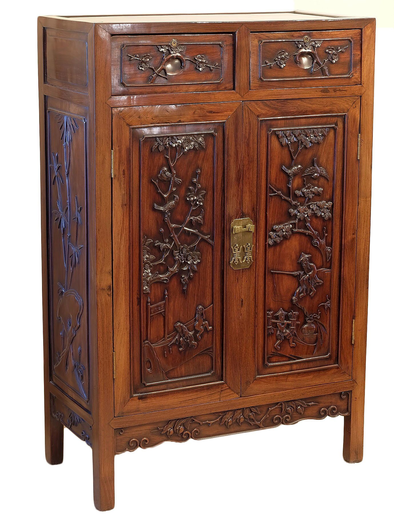 'Good Antique Chinese Hongmu Rosewood Cabinet Early 20th Century'