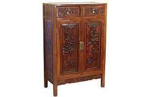 Good Antique Chinese Hongmu Rosewood Cabinet Early 20th Century