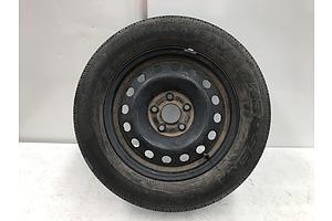 Single Rim Wit Kapsen Comfortmax A/S Tyre