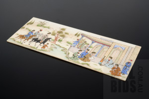 Hand Painted Indo-Persian Ivory Panel, Early to Mid 20th Century