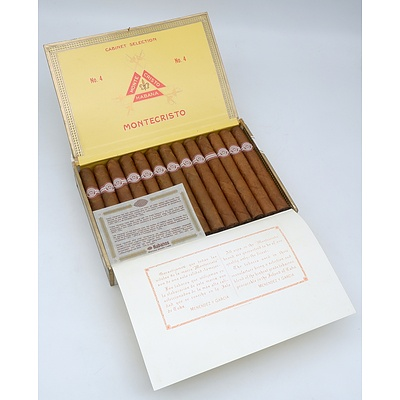 Montecristo Habana Full Box of 26 Hand Rolled 5 inch Cigars (No 4)