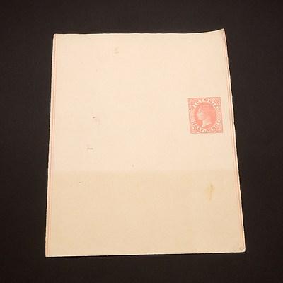 1885 Victoria State Queen Victoria 1/2d Rose Newspaper Wrapper