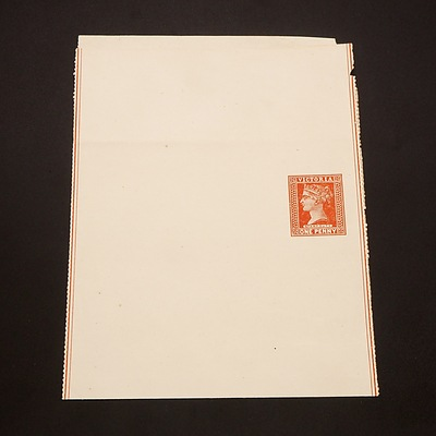 1890 Victoria State Queen Victoria 1d Brownish-Red Stamp Duty Newspaper Wraper
