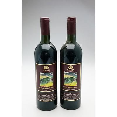 Joadja Southern Highlands Berrima 1997 Cabernet Malbec - Lot of Two Bottles (2)