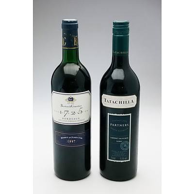 Tatachilla 'Partners' 2003 Cabernet Shiraz and Barton & Guestier Reserve 1997 Bordeaux (2)