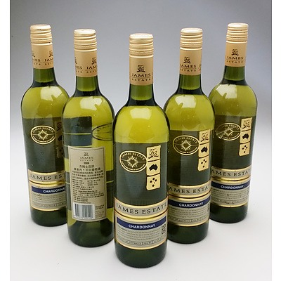 James Estate 2008 Chardonnay - Lot of Five Bottles (5)